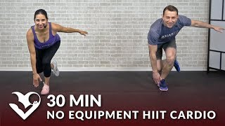 30 Minute No Equipment HIIT Cardio Workout - 30 Min Tabata HIIT at Home No Equipment Cardio Workouts by HASfit