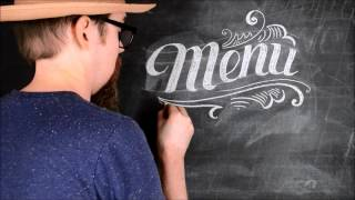 How to write the word Menu on a chalkboard - Chalkboard lettering tutorial - DIY Chalk art lettering