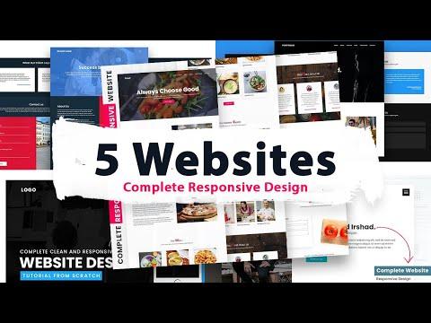 How To Make Website using Html & CSS | Complete Responsive Website Design Tutorial