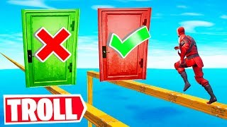 This is THE MOST TROLL Deathrun EVER! (Fortnite Creative Mode)