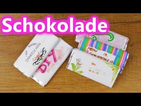 Schoko DIY Geschenk Idee 🍫Süße Verpackungen für Schokotafeln selber machen | Gastgeschenk