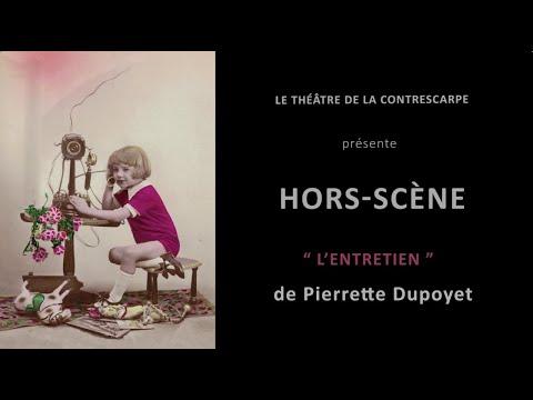Découvrez le « HORS-SCÈNE • L'ENTRETIEN » de Pierrette DUPOYET, qui est à l'affiche du Théâtre de...