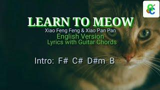 LEARN TO MEOW [ Tiktok song ] Xiao Feng Feng & Xiao Pan Pan Englis Version Lyrics with Guitar chords