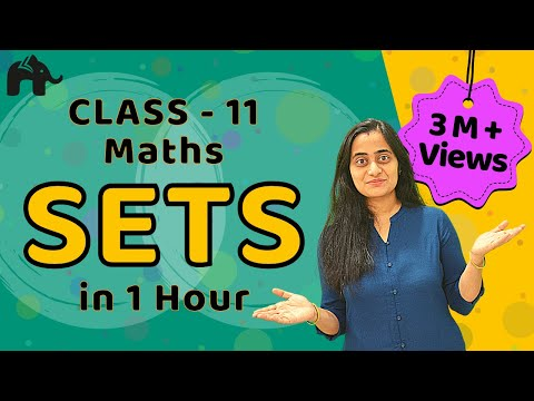 Sets | CBSE Class 11 Maths Chapter 1 | Complete Lesson in ONE Video