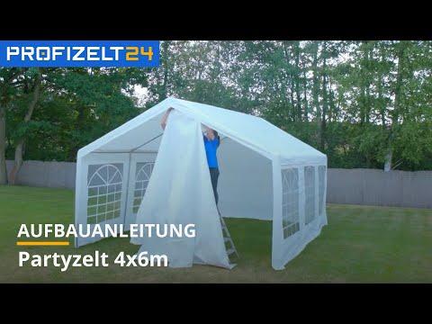 Partyzelt, Festzelt (PE) - Aufbau 4x6m OPTILine Economy