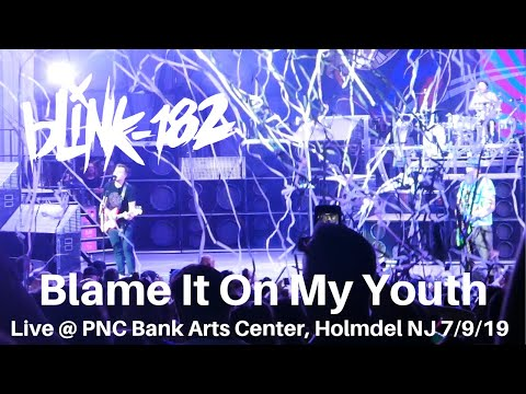 Blink 182 - Blame It On My Youth LIVE @ PNC Bank Arts Center Holmdel NJ 7/9/2019