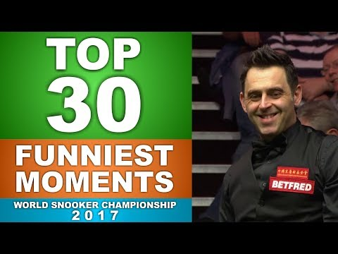 TOP 30 FUNNY SNOOKER MOMENTS   World Championship 2017