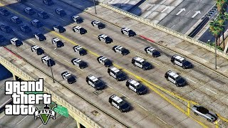 GTA 5 - STOP THAT GUY! LSPDFR Playing As Police Chevy Tahoe Blue Lights Patrol (HUGE PURSUIT)