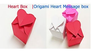 Origami Heart Box & Envelope| Heart with Message Origami Easy|How to make a Paper Heart With Massage - Video Youtube