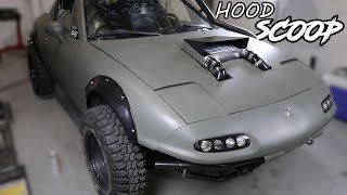 Supercharging the Rally Miata Pt.4 - DIY Hood Scoop