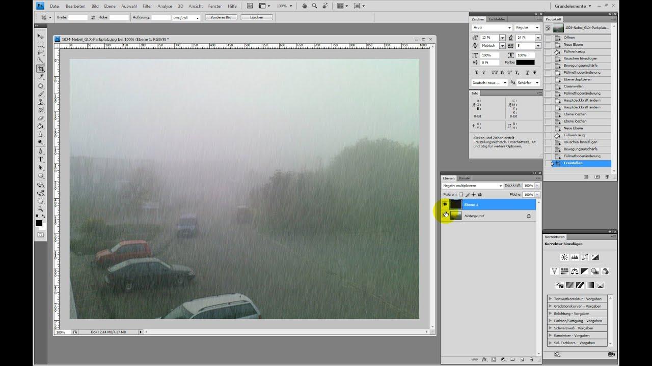Realistischen Regen erstellen – Photoshop-Tutorial