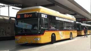 preview picture of video 'Brennstoffzellenbus der Postauto AG Versuchsbetrieb Brugg Citaro FuelCELL-Hybrid'