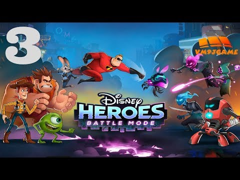 Disney Heroes: Battle Mode -  Gameplay Walkthrough Part 3 (iOS, Android)