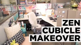 Before-and-After Zen Cubicle Makeover | HGTV