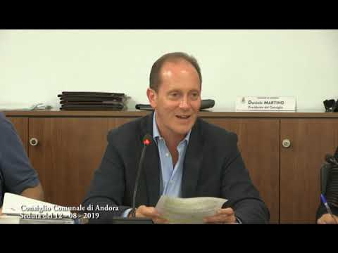 IL CONSIGLIO COMUNALE DI ANDORA DI LUNEDI' 12 AGOSTO 2019