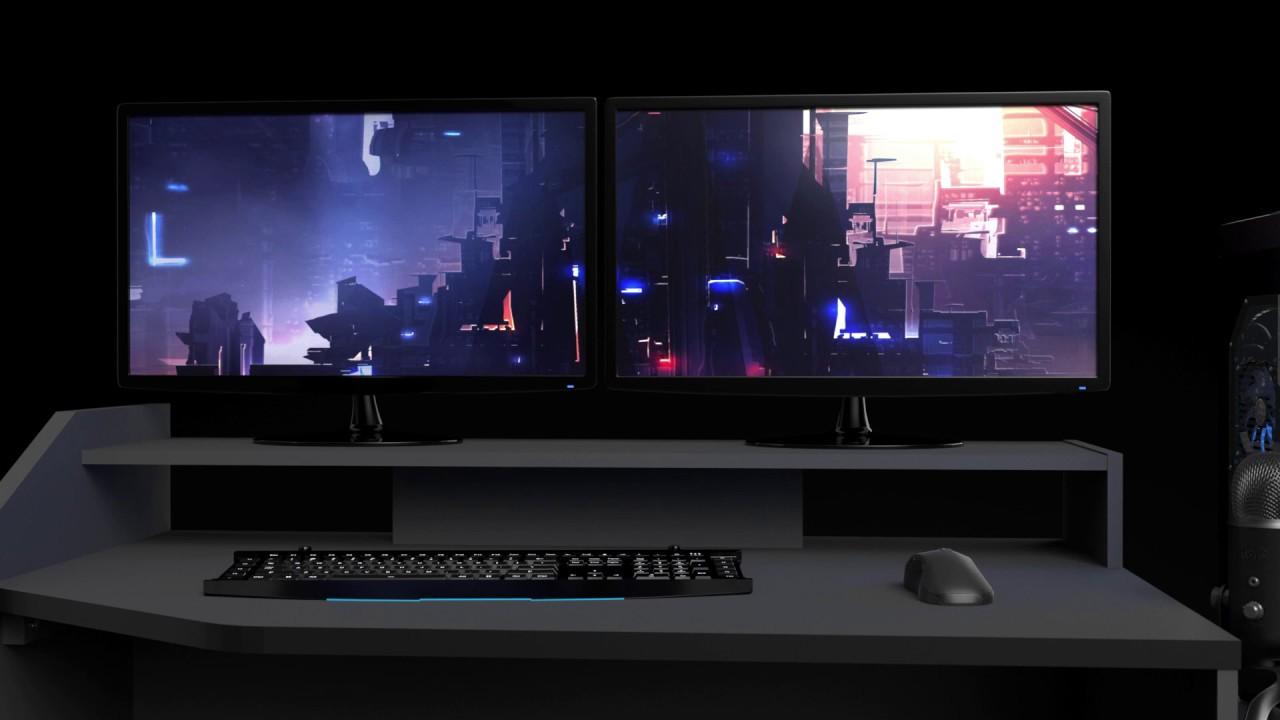 Corner Gaming Set up Desk Product Video