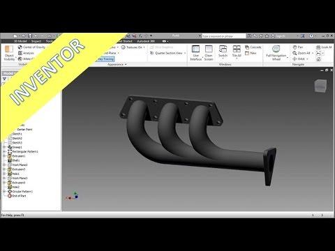 12.2 Abgaskruemmer - Inventor 2014 Training - Sweep - Shell