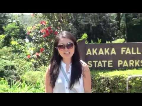 ハワイ留学生活 アカカ滝