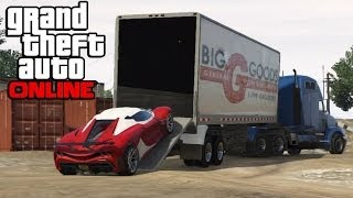 GTA 5 Online - Hauling Cars In Semi Trucks ! How To Transport Cars In a Trailer (GTA V Online)