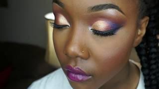 Colorful Client makeup application by MakeupMesha