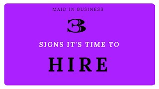 3 Signs Its Time To Hire An Employee For Your Cleaning Business
