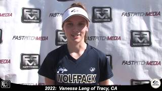 2022 Vanessa Lang Athletic Shortstop, Catcher & Outfield Softball Skills Video - Lady Wolfpack Gold