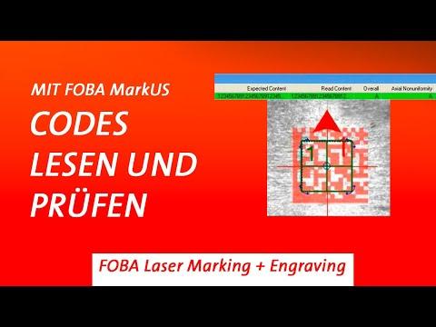 Codes markieren, lesen und prüfen mit FOBAs Lasertechnologie