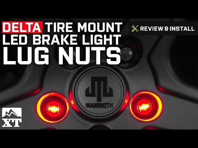 Delta Waterproof LED Third Brake Lug Nuts (87-19 Jeep Wrangler YJ, TJ, JK &  JL)