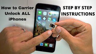 How to Carrier Unlock ALL iPhones| Unpaid Bills Sprint iPhones supported!