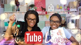 YouTube Live with the Froggys:  Weekly Q&A | Updates | Favorite Crafts PLUS Shout Outs!!