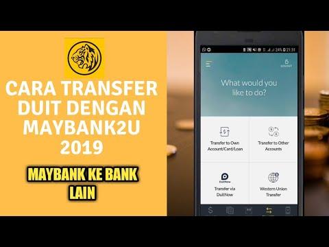 Cara Transfer Duit Dengan Maybank2u   Maybank ke Bank Lain