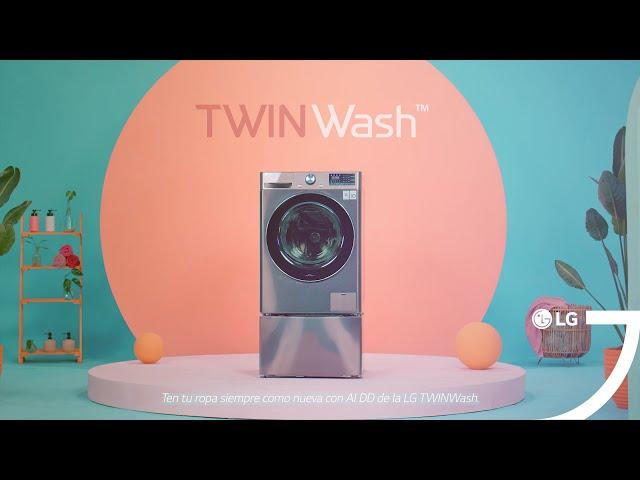Lavadoras LG TwinWash – Experimenta la tecnología de lavado AI DD