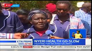 Support staff from Nyeri County hospital down their tools over unpaid dues
