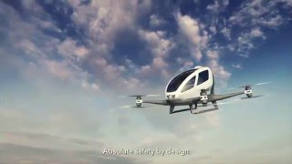 Ehang 184 single passenger drone Video