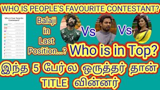 Bigg Boss Tamil Online Voting Results   Who is your favourite Contestant   Online Survey   BB4