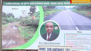 Video: Governor Udom Emmanuel commissions School of Arts and Science Road.