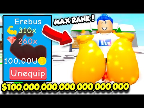 Getting The MAX RANK POSSIBLE In BOXING SIMULATOR And BECOMING INSANELY POWERFUL! (Roblox)