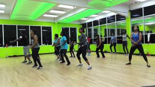 Waiting on the stage Machel Montano Zumba choreography L A Fitt Services