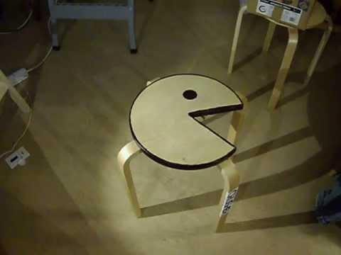 DIY Pac-Man Furniture From A $15 IKEA Stool