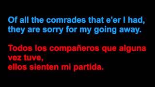 Ed Sheeran - The parting glass - Letra en español y en inglés en la pantalla