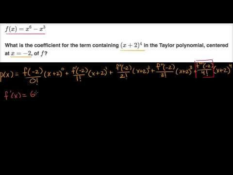 Worked example: coefficient in Taylor polynomial (video