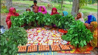 Vegetables Data Mixed 150 Eggs Noodles Cooking By 15 Women For WHole Village People