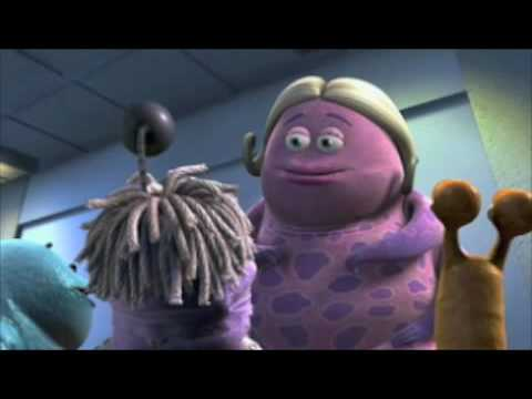 Monster's inc: Sully Thinks Boo's a Garbage Cube