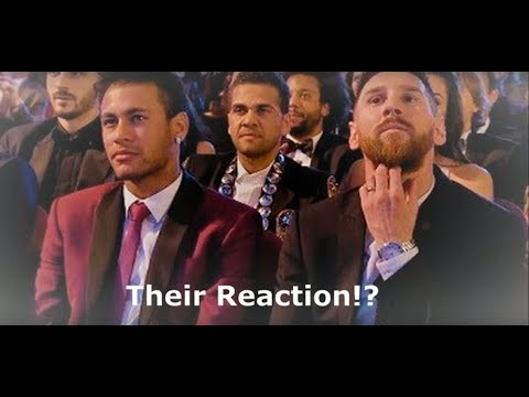 Messi and Neymar's reaction after Ronaldo wins Best FIFA Men's Player Award 2017