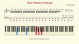 """How To Play Piano: The Beatles """"Give Peace A Chance"""" Piano Tutorial by Ramin Yousefi"""