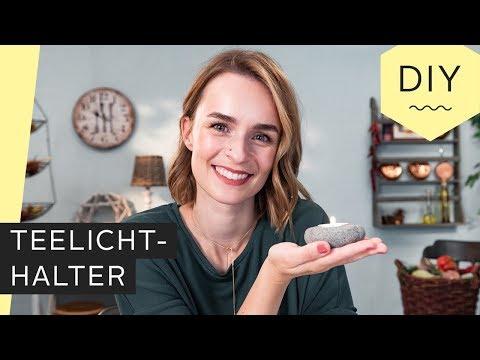 DIY: Teelichthalter in Steinoptik selber machen | Roombeez – powered by OTTO