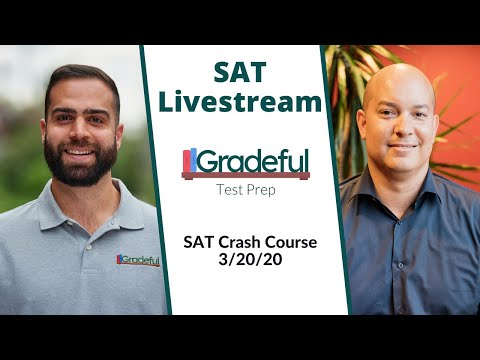 SAT Livestream- SAT Crash Course (3/20/20) - YouTube