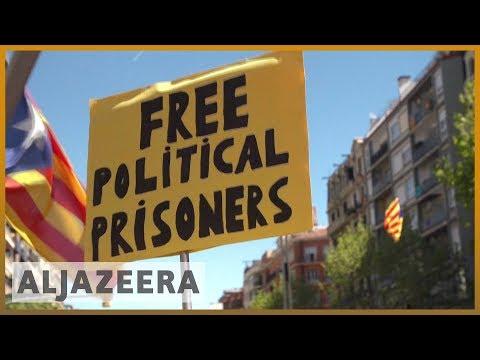 🇪🇸 Massive Barcelona protests over separatists' rebellion charges | Al Jazeera English