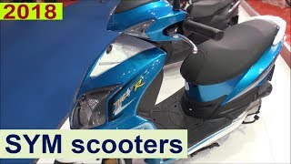 SYM scooter prices for 2018