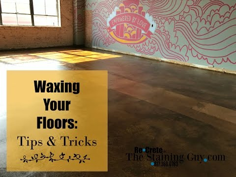 Waxing a Floor: Tips and Tricks